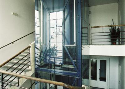 osobní lanový výtah 630 ZEUS- Prosklená šachta- Akademie věd České republiky, Na Florenci 3, Praha 1